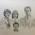 Ritratto a matita 24 x 34 famiglia