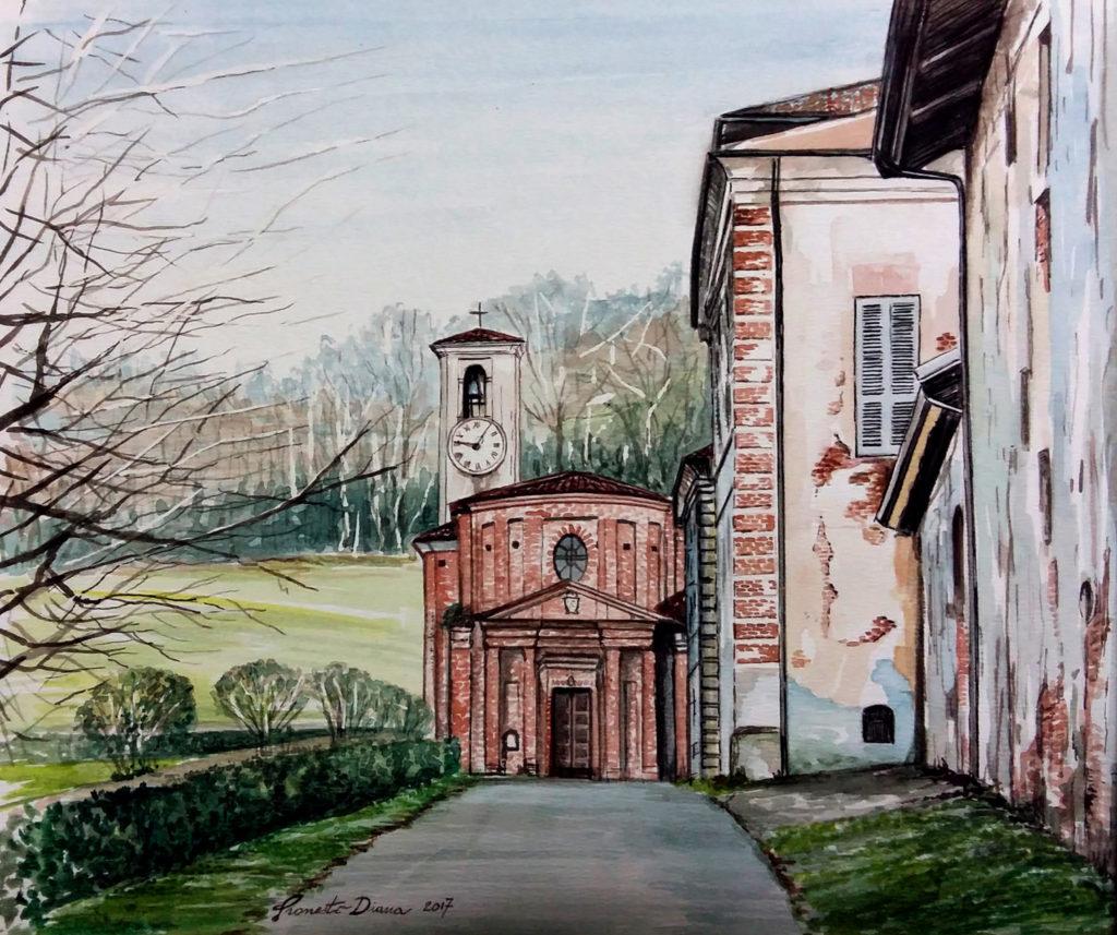 San Sebastiano Po - acquerello 23 x 28