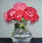 Vaso di rose rosse 21x35