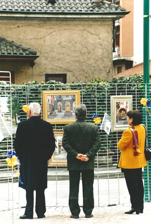 avv. Gribaudo con la moglie alla mostra di Pronesti 1