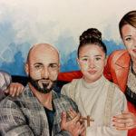 ritratto di famiglia - 40 x 70