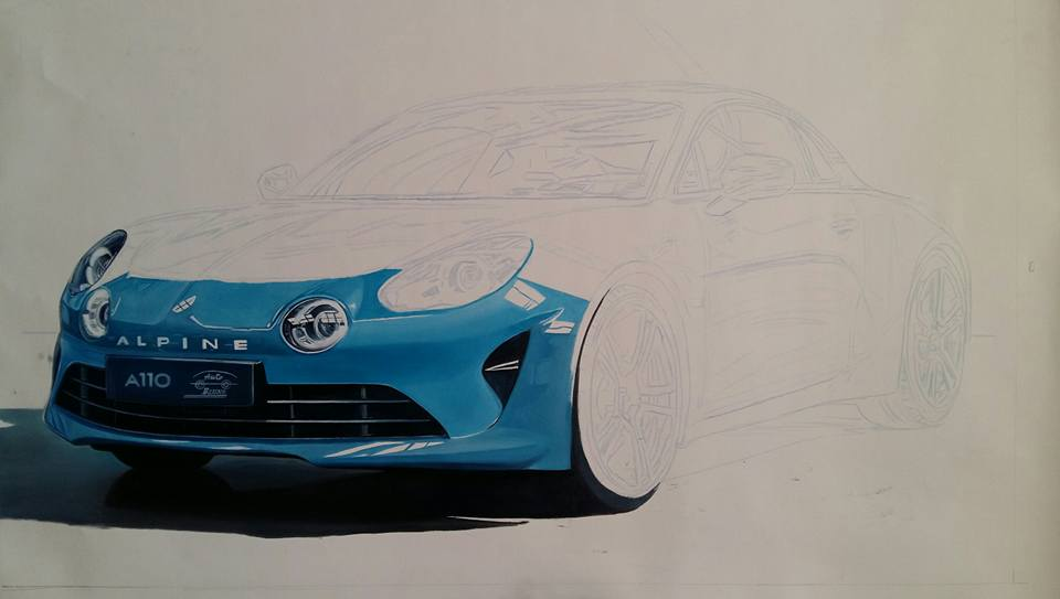 Renault Alpine work in progress 2