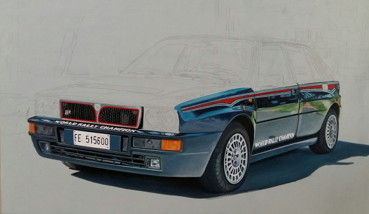 Lancia Delta Integrale work in progress