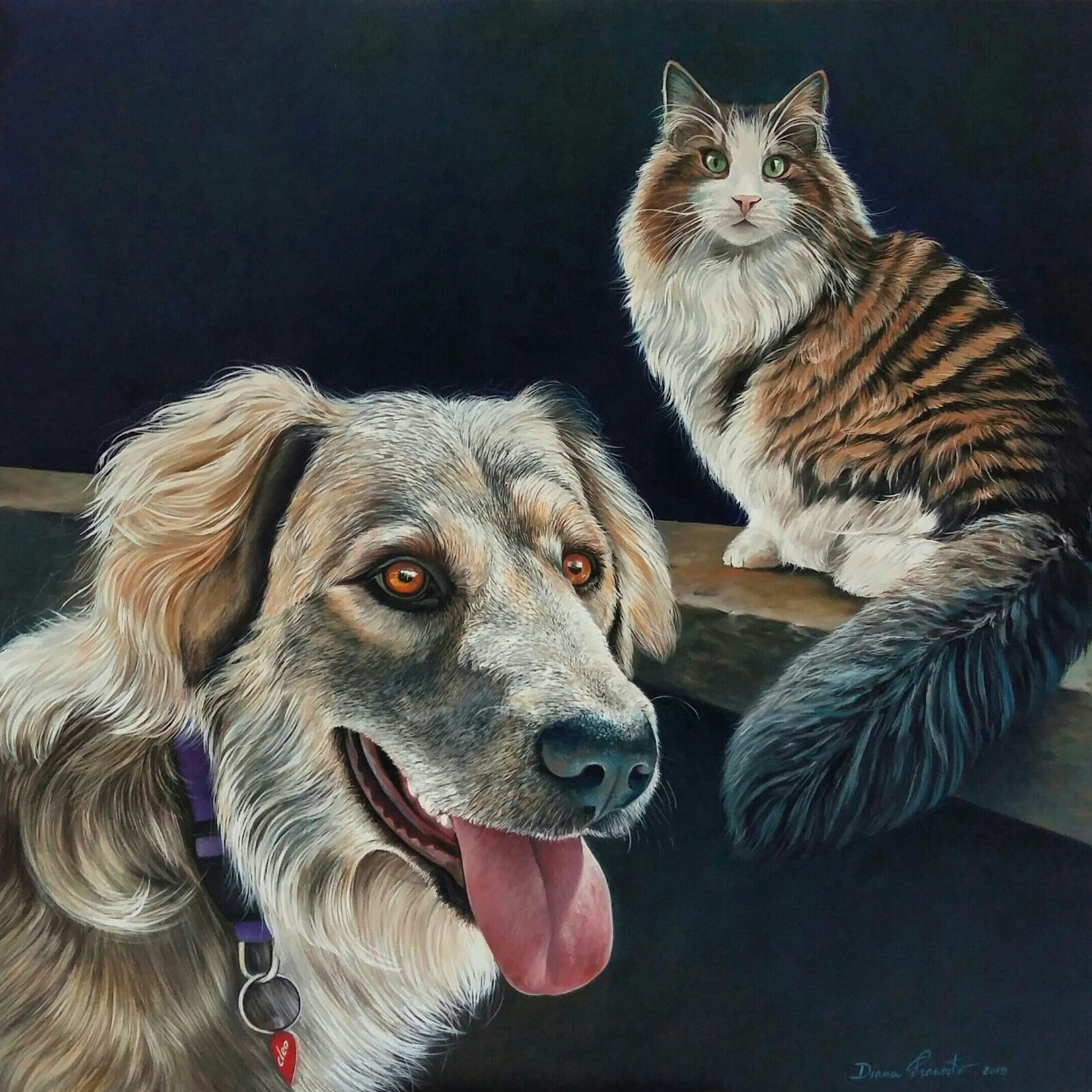Cleopatra (cane) e Caio Giulio Cesare Gatto)
