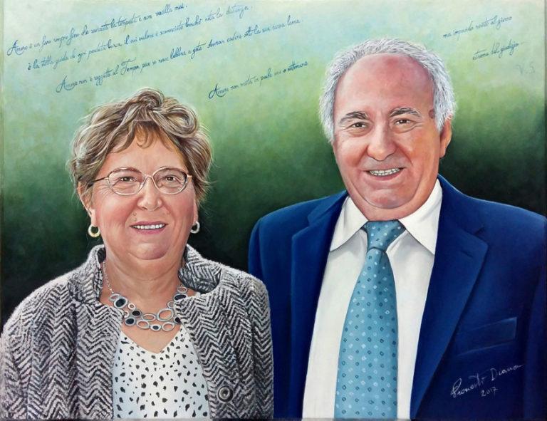 50 anni insieme olio su tavola 40x51 cm