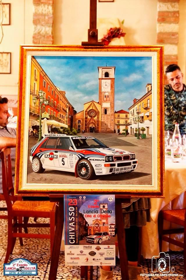 Dipinto in mostra al 2° raduno Lancia Delta