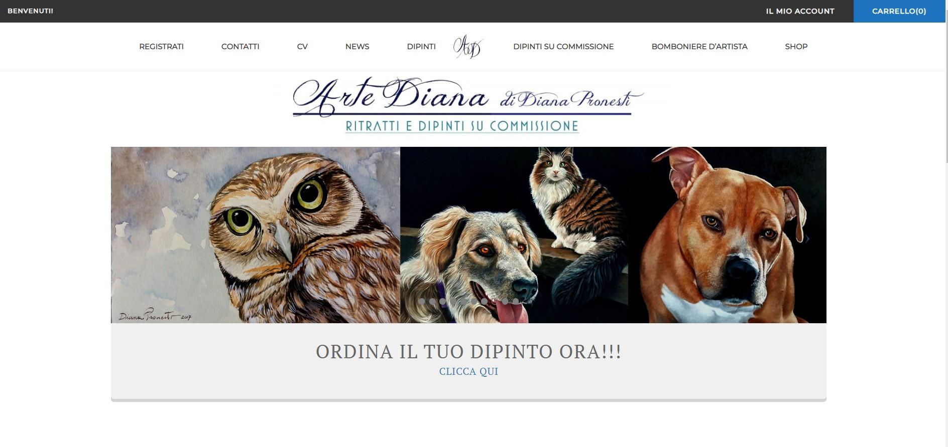 Nuovo sito web Arte Diana